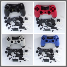10Sets/lot Replacement Shell Case+Buttons+Pad for PS4 Controller Matte Housing Shell Case