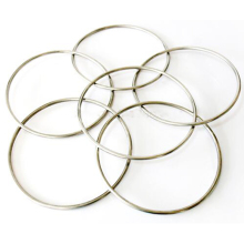 1sets six Connected Rings Kit 6 Linking Rings with Magnet Steel Pipe diameter 31cm street Magic Tricks  Magic Props 82113