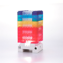 Creative DIY Tetris Puzzle Light Stackable LED Desk Lamp Constructible RainbowBlock LED Light Toy Building Block Baby NightLight(China)