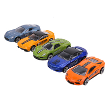5pcs/set 1:64 Scale Alloy Racing Car Models Kids Diecast Metal Car Children Car Toy Set for Boys Best Gift(China)