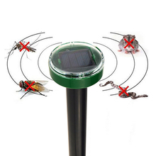 Eco-Friendly Solar Power Ultrasonic Gopher Mole Snake Mouse Pest Reject Repeller(China)