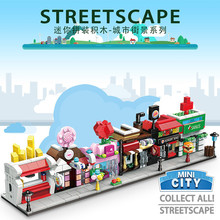 6pcs/lot City Street Shop Legoings Building Blocks Kit Toys Gifts(China)