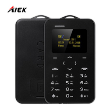 New Mini Phone AIEK/AEKU C6 Color Screen PK M5 Cell Phone Ultra Thin Children Mobile Phone Low Radiation GSM Bluetooth