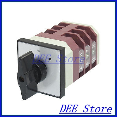 AC 500V 16A 12 Terminals 3 Positions Rotary Changeover Cam Switch LW6-2<br><br>Aliexpress
