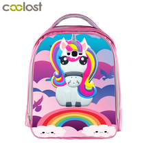 Children Anime Unicorn Backpack Boys Girls Cartoon Kindergarten Backpacks Rainbow Pony Kids School Bags Bookbag Pink Backpacks
