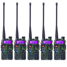6 pcs/lot Camouflage BAOFENG UV-5R Walkie Talkie cb Radio Portable Radio FM Radio Transceiver long Range Radio