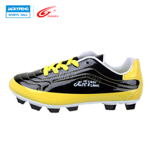 ZHENZU Mirror PU Boys Soccer Shoes Kids Children Athletic Training Shoes Football Cleats Sport Soccer Shoes, Size 30-35