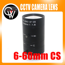 "6-60mm 1/3"" CS Lens CCTV Lens IR F1.6 Manual Zoom Manual Iris for IP CCTV CCD Camera(China)"
