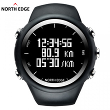 North Edge GPS Watch Men Digital Smart Pace Speed Calorie Wristwatch Running Jogging Triathlon Hiking Clock Waterproof 50m Hour(China)