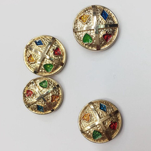 new fashion women's dress foot metal buttons good quality metal suit gold crown buttons metal rhinestone embellishment 50pcs/lot