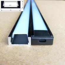 10pcs x 2m Surface Mounted Aluminum led channel Profile for 12mm Led strip housing SDW1607(China)