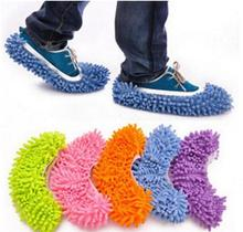 2pcs/1pair/lot Chenille Microfiber Mop Floor Cleaning Lazy Slippers House Home Flooring Tools Shoes Bathroom Kitchen Cleaner(China)