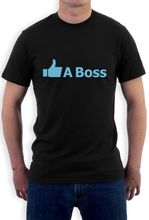 Like A Boss - Funny Gift Idea Thumbs Up Novelty T-Shirt Cool Casual Short Sleeve Shirt Tee