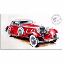 Full Magic Drill 3D Diamond Painting Red Car Embroidery Kits Diamond Mosaic Picture Of Rhinestones Dmc Craft Beaded Embroidery