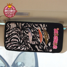 Auto storage case CD holder organizer sunshade type women cartoon car accessories interior product gift for women(China)