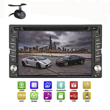 Free Map Card+Camera 2 Din Car Stereo HeadUnit GPS 6.2 inch HD Touch Screen Universal In Dash Car Radio Bluetooth Car DVD Player(China)
