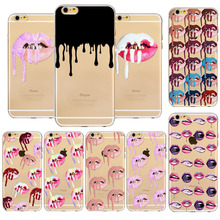 Hot selling Soft TPU Phone Cases Sexy Girl Lip Cover for iPhone 5 5s SE 6 6s 6plus 6sPlus 7 8 7plus 8Plus Cell Phone Cover Case(China)