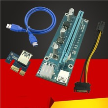 Buy Riser Card PCI-E 1x 16x Riser Card USB 3.0 Cable SATA IDE Molex 6Pin Power Cable Antminer Bitcoin Miner Mining Machine for $1.46 in AliExpress store