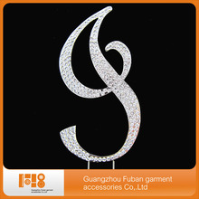 Plating silver color crystal rhinestone cake topper I for wedding decorations(China)