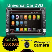 2DIN Autoradio Capacitive Android 6.0 Wifi Car PC GPS BT Radio USB SD DVD Player Camera car parking Digital Bluetooth Video Map