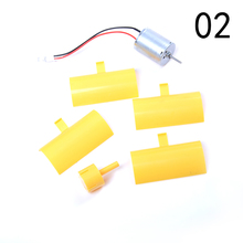 1pc yellow Wind Turbines Alternative Energy Generators Accessories 3-5V Small Motor Vertical Micro Blades Power Generator Kit(China)