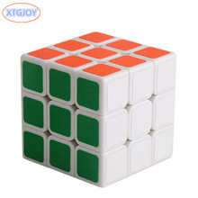1Pcs 3x3x3 ABS Sticker Block High Quality Speed Scrub Magic Cube Colorful Learning&Educational Puzzle Cubo Magico Toys(China)