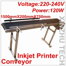 Brand New Inkjet Printer Conveyer 120W Conveying Table Band Carrier CSD120 Belt Conveyor For Bottles/Box/Bag/Sticker(China)
