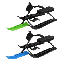 Winter Household Snow Racer with Safe Brake Snow Sled Snowmobile with Anti-slip Handle Bar Ride On Snow Grass Sand Scooter(China)