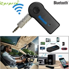 3.5mm Streaming Car A2DP Wireless Bluetooth Car Kit AUX Audio Music Receiver Adapter Handsfree with Mic For Phone MP3 2017