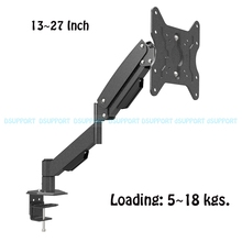 L153 Heavy Duty Gas Spring Desktop Monitor Arm Full Motion TV Mount Bracket All-in-One PC Table Mount