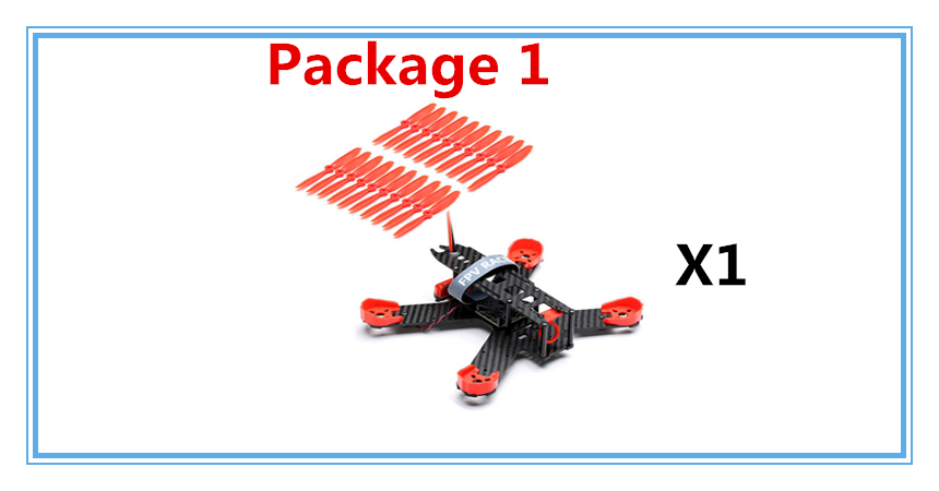 Kingkong 210 Carbon Fiber Mini FPV Quadcopter 5V 12V BEC PDB Motor Cover Protection Frame Free Give 10 Pairs 5040 Red Propeller<br>