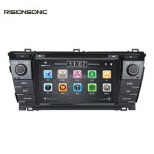 2Din Indash Car DVD Radio Player GPS Navigation Stereo For Toyota Corolla 2013 2014 2015 with capacitive screen bluetooth(China)