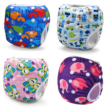 Unisex Waterproof Adjustable Swim Diaper Pant 10-40 lbs Swim Diapers Reusable Baby Diapers Nappies Washable Pool Cover One Size