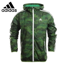 Original New Arrival  Adidas performance men's jacket Hooded Training sportswear