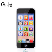 GonLeI LED Baby Educational Toys Cellphone English Baby Phone Toy Mobile Phone Model Children Learning Toys for Christmas Gifts