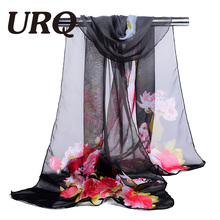 chiffon scarf print flower women's scarf muslim spring and autumn women's summer patterns sunscreen cape shawl wrap 2017 hot