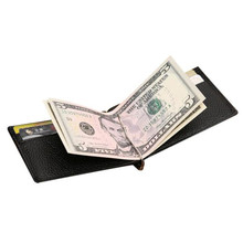 New Men Faux Leather Wallet with Money Clip Bifold Black Quality Guarantee Soft Leather Purse Male Practical male carteira 2018(China)