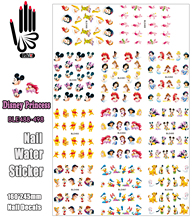 11 Sheets/Lot Nails BLE488-498 Cartoon Mickey Princess Bear Mouse Nail Water Transfer Sticker Decal For Nail(11 DESIGNS IN 1)