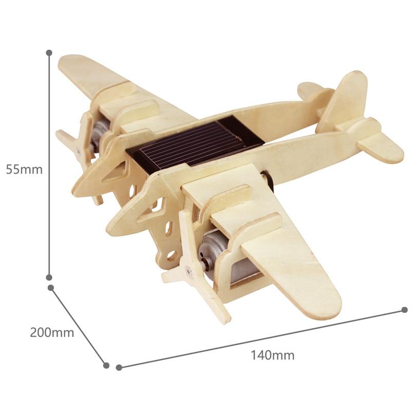 Robud 11 Kinds Solar Energy Powered Plane 3D Wooden Model Building Popular Creative Toys Hobbies Gift for Children,Teens P250 44