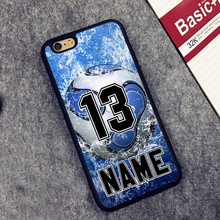 Custom Number and Name Soccer Ball Print Soft Rubber Phone Cases For iPhone 6 6S Plus 7 7 Plus 5 5S 5C SE Back Cover Skin Shell