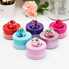 High Quality 4 Pcs/lot Lacework Candy Boxes Chocolate Sweet Tin Bonbonniere Wedding Favor Box Party Valentine Gift Box