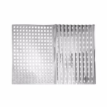 OUTAD 2 Pcs Outdoor Portable Stainless Steel Foldable Fast Heating Ultra Light Mesh Barbecue Grilling Picnic Cooking Grid Tools(China)