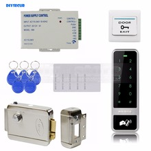 DIYSECUR Electric Lock RFID Reader Touch Panel Password Keypad Door Access Control Security System Kit(China)