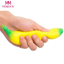 Slow Rising Squishy Banana Wrist Hand Pad Rest Kids Toy Charm Home Decoration Novelty Funny Anti-stress Toys For Children Adult(China)