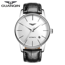 Quality GUANQIN Watches Men Top Luxury Brand Automatic Mechanical Watch Sapphire Waterproof Watches Leather Male Wristwatches(China)