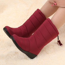 women boots 2017 Winter boots women shoes With Velvet Snow Boots Warm Female shoes Waterproof Non-slip Women Rain(China)