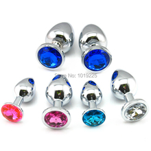 73*28mm Metal Anal Plug 13 Colors Butt Plug Metal Body Beads Stainless Steel+Crystal Jewelry Sex Toy GS0021
