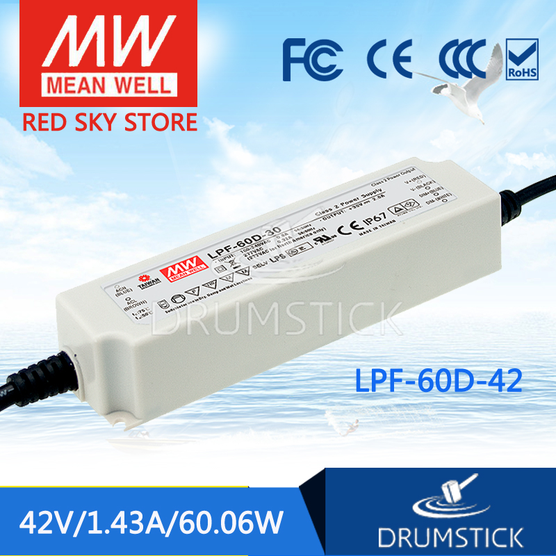 Selling Hot MEAN WELL LPF-60D-42 42V 1.43A meanwell LPF-60D 42V 60.06W Single Output LED Switching Power Supply<br>
