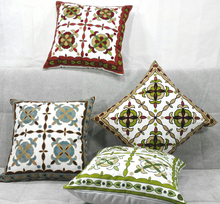 Fresh Flower Custom Cushion Cover Geometric Leaf Embroidery Pillow Cases 45X45cm Good Quality Pillows Bedroom Sofa Decoration