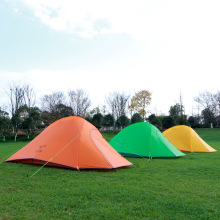 Outdoor Tent 20D Silicone Fabric Ultralight 2 Person Double Layers Aluminum Rod Camping Tent 4 Season With 2 Person Mat